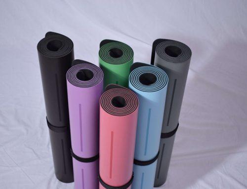 Laser engraving PU yoga mat