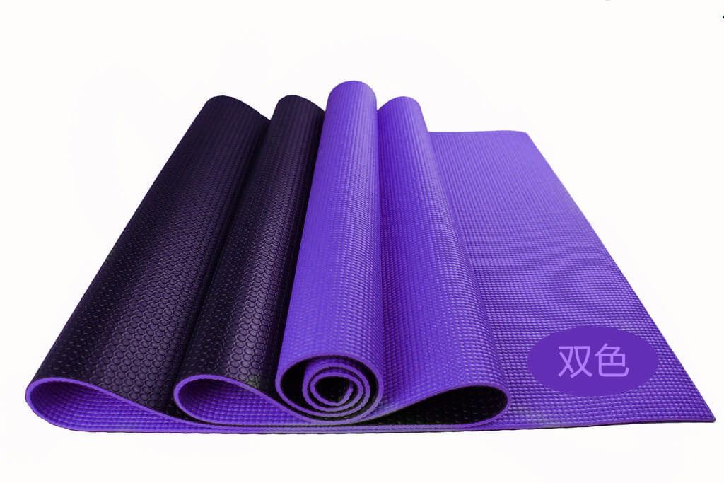bright in luster complimentary shipping wide selection of colors Two Tone PVC Yoga Mat | iYogaTowel